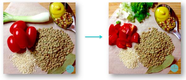 Fakosalata prep Food Method